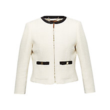 Buy Ted Baker Daara Bow Detail Suit Jacket, Natural Online at johnlewis.com