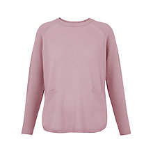 Buy Whistles Cashmere Ribbed Boxy Jumper, Pale Pink Online at johnlewis.com