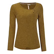 Buy White Stuff Woodland Pixie Biker Cardigan, Tumeric Green Online at johnlewis.com