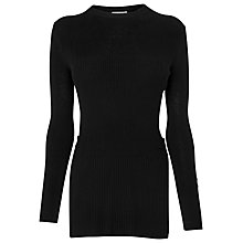 Buy Whistles Side Split Detail Jumper, Black Online at johnlewis.com