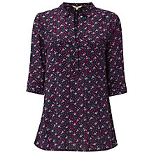 Buy White Stuff Whisper Way Shirt, Marine Purple Online at johnlewis.com