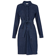 Buy Whistles Carrie Denim Shirt Dress, Dark Blue Online at johnlewis.com