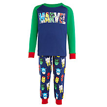 Buy John Lewis Boys' Marvel Classic Pyjama Set, Navy Online at johnlewis.com
