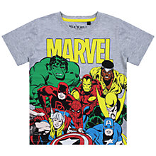 Buy Marvel Superheroes T-Shirt, Grey Online at johnlewis.com