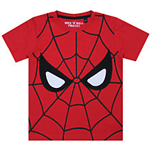 Buy Spider-Man Face T-Shirt, Red Online at johnlewis.com