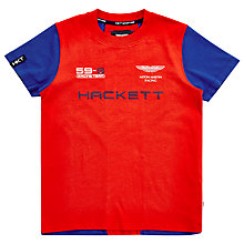 Buy Hackett London Boys' Contrast Sleeve T-Shirt, Red/Blue Online at johnlewis.com