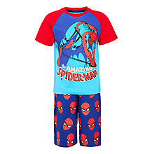 Buy Spiderman Boys' Short Pyjama Set, Blue Online at johnlewis.com