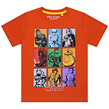 Buy Star Wars Grid T-Shirt, Orange Online at johnlewis.com