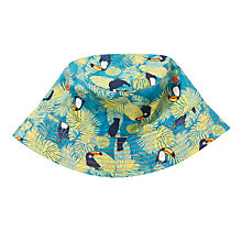 Buy John Lewis Children's Toucan Print Bucket Hat, Blue Online at johnlewis.com