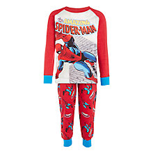 Buy John Lewis Boys' Spiderman Classic Pyjamas, Red Online at johnlewis.com