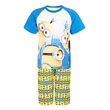 Buy Minions Boys' Shortie Pyjamas, Yellow/Blue Online at johnlewis.com