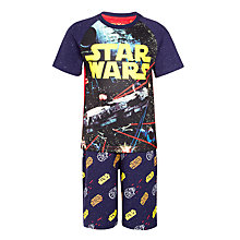 Buy Star Wars Boys' Short Pyjamas, Navy Online at johnlewis.com