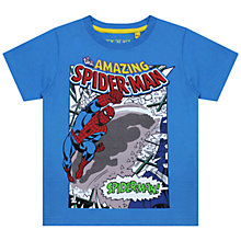 Buy Spider-Man Swing Print T-Shirt, Blue Online at johnlewis.com