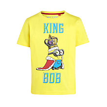 Buy Minions King Bob T-Shirt, Yellow Online at johnlewis.com
