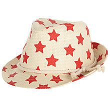 Buy John Lewis Children's Star Trilby Hat, Natural Online at johnlewis.com