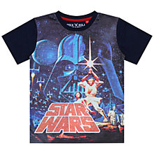 Buy Star Wars Classic T-Shirt, Navy Online at johnlewis.com