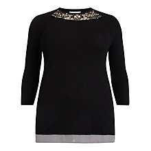 Buy Studio 8 Belinda Embellished Jumper, Black Online at johnlewis.com