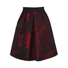Buy Coast Etna Jacquard Skirt, Red Online at johnlewis.com
