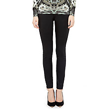 Buy Ted Baker Aissata High Waisted Wax Finish Jeans, Black Online at johnlewis.com