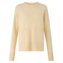 Buy Jigsaw Crew Neck Pocket Jumper Online at johnlewis.com