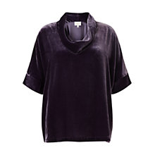 Buy East Velvet Bardot Top, Plum Online at johnlewis.com
