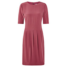 Buy Jigsaw Silk Dress With Tucks, Cinder Rose Online at johnlewis.com