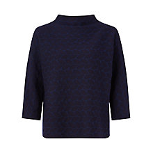 Buy Jigsaw Oval Geo Jacquard Jumper, Navy Online at johnlewis.com