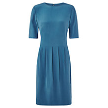 Buy Jigsaw Silk Dress With Tucks, Slate Blue Online at johnlewis.com