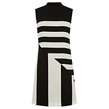 Buy Oasis Block Stripe Dress, Black/White Online at johnlewis.com