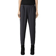 Buy AllSaints Corale Trousers, Dark Ink Online at johnlewis.com
