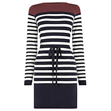 Buy Oasis Colour Block Stripe Tunic Top, Multi Online at johnlewis.com