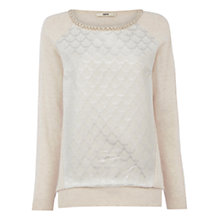Buy Oasis Jacquard Embellished Sweatshirt Online at johnlewis.com