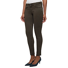 "Buy Jigsaw Richmond Dye Skinny Jeans 30"", Khaki Online at johnlewis.com"