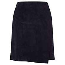 Buy Jigsaw Suede Wrap Skirt, Prussian Blue Online at johnlewis.com