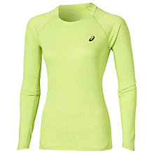 Buy Asics Liteshow Long Sleeve Running Top, Pistachio Online at johnlewis.com