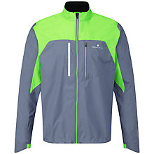 Buy Ronhill Advance Windlite Running Jacket, Granite/Green Online at johnlewis.com