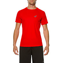 Buy Asics Stripe Short Sleeve Running Top, Formula One Online at johnlewis.com
