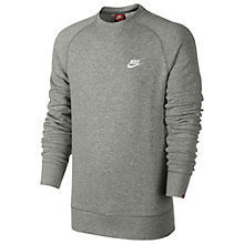 Buy Nike AW77 French Terry Sweatshirt, Dark Grey Heather Online at johnlewis.com