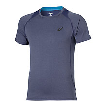 Buy Asics Short Sleeve Running Top, Deep Cobalt Heather Online at johnlewis.com