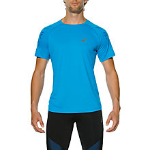 Buy Asics Tiger Stripe Running Top, Blue Online at johnlewis.com