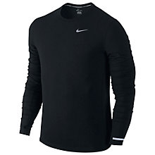 Buy Nike Dri-FIT Contour Long Sleeve Running Top, Black Online at johnlewis.com
