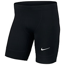 Buy Nike Tech Running Half Tights, Black Online at johnlewis.com