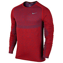 Buy Nike Dri-FIT Knit Men's Running Top, University Red Online at johnlewis.com