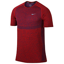 Buy Nike Dri-FIT Knit Short Sleeve Running Top Online at johnlewis.com