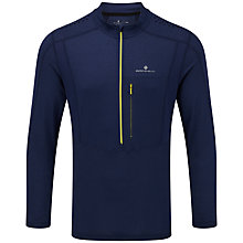 Buy Ronhill Trail Half Zip Running Top, Midnight Blue Online at johnlewis.com