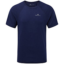 Buy Ronhill Advance Motion Short Sleeve Running T-Shirt, Midnight Blue Online at johnlewis.com