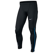 Buy Nike Power Tech Running Tights, Black/Blue Online at johnlewis.com