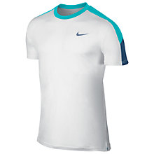 Buy Nike Team Court Men's Tennis Top, White Online at johnlewis.com