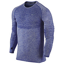 Buy Nike Dri-FIT Knit Long Sleeve Running Top, Royal Blue Online at johnlewis.com