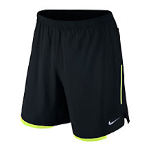 Buy Nike Men's Flex Running Shorts, Black/Volt Online at johnlewis.com